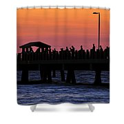 The Evenings Cast Shower Curtain