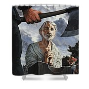 The Execution Of Walter Raleigh Shower Curtain
