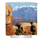 The Face Of Arches Shower Curtain