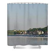 The Fairmount Dam And Boathouse Row Shower Curtain