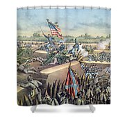 The Fall Of Petersburg To The Union Army 2nd April 1965 Shower Curtain