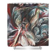 The Falling Figure Shower Curtain