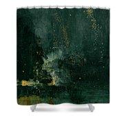The Falling Rocket Shower Curtain by James Abbott Whistler