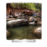 The Falls Virgin River Shower Curtain