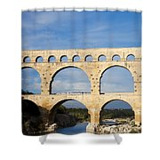 The Famous Pont Du Gare In France Shower Curtain
