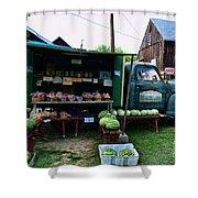 The Farmer's Truck Shower Curtain