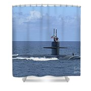 The Fast Attack Submarine Uss Salt Lake Shower Curtain