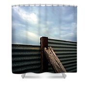 The Fence The Sky And The Beach Shower Curtain