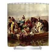 The Ferry  Shower Curtain by Johann Till