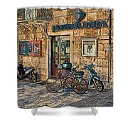 The Ferry Ticket Office Corfu Croatia Shower Curtain