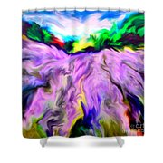 The Field Of Lavender Shower Curtain