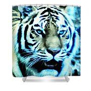 The Fierce Tiger Shower Curtain