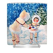 The Figure Skater 2 Shower Curtain