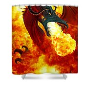 The Fire Dragon Shower Curtain