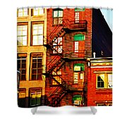 The Fire Escape Shower Curtain