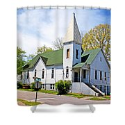 The First Christian Church Of Harriman 2 Shower Curtain