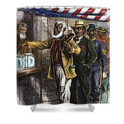 The First Vote, 1867 Shower Curtain