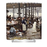 The Fish Hall At The Central Market  Shower Curtain