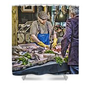 The Fish Monger Shower Curtain