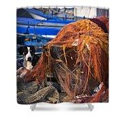 The Fisherman's Dog II Shower Curtain