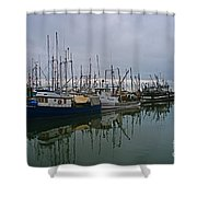The Fishing Fleet Shower Curtain