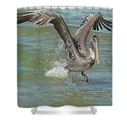 The Fishing Is Good Shower Curtain