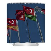 The Flags Of The Participating Nations Shower Curtain
