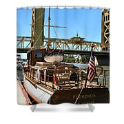 The Florencia And Tower Bridge In Color Shower Curtain