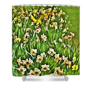 The Flower Bed Shower Curtain