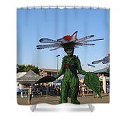 The Flower Fairies Are Here Shower Curtain