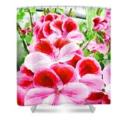 The Flower Tower Shower Curtain