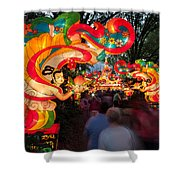 The Flying Apsaras Shower Curtain