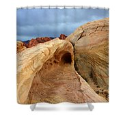 The Folded Landscape Shower Curtain