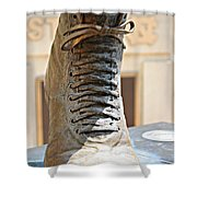 The Foot Of Choo Choo Justice Shower Curtain