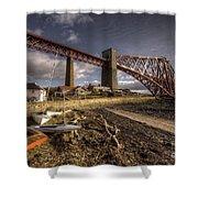 The Forth Rail Bridge Shower Curtain