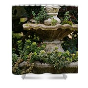 The Fountain Painterly Shower Curtain