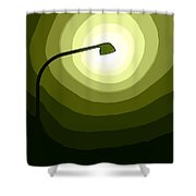 The Future Is Green Shower Curtain
