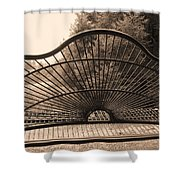 The Garden Swing Shower Curtain