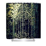 The Gate In The Grotto Of The Redemption Iowa Shower Curtain