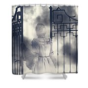 The Gate Shower Curtain by Joana Kruse