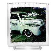 The Gentleman Scholar Truck Shower Curtain