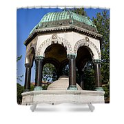 The German Fountain In Istanbul Shower Curtain