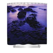 The Giants Causeway, County Antrim Shower Curtain