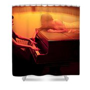 The Girl And The Ghost Shower Curtain by Semmick Photo