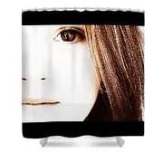 The Girl Shower Curtain