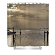 The Golden Hour II Shower Curtain