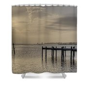 The Golden Hour Iv Shower Curtain