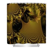 The Golden Mascarade Shower Curtain by Maria Urso