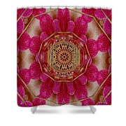 The Golden Orchid Mandala Shower Curtain