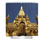 The Golden Palace Laos Shower Curtain